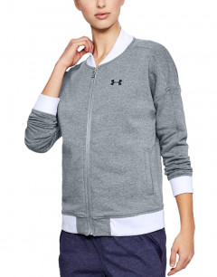 UNDER ARMOUR Threadborne Fleece Bomber Grey