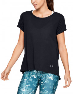 UNDER ARMOUR Whisperlight SS Foldover Tee Black