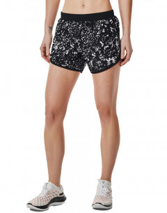 UNDER ARMOUR Fly-By 2.0 Printed Shorts Black