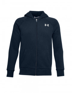 UNDER ARMOUR Rival Cotton FZ Hoodie Navy