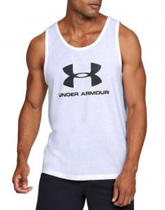 UNDER ARMOUR Sportstyle Logo Tank Top White