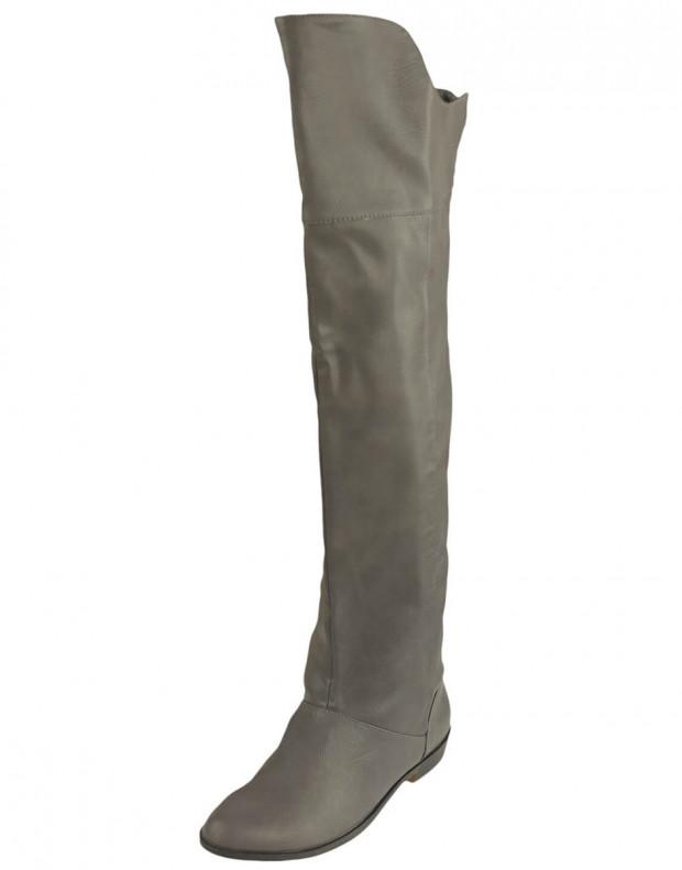 BESHKA High Boots Sage Grey