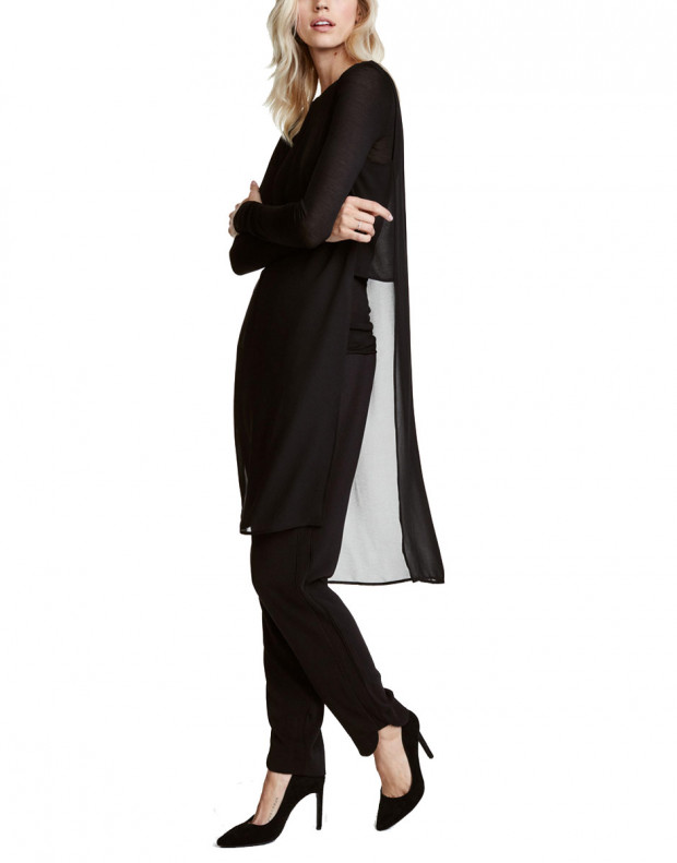 H&M Crepe Tunic Black