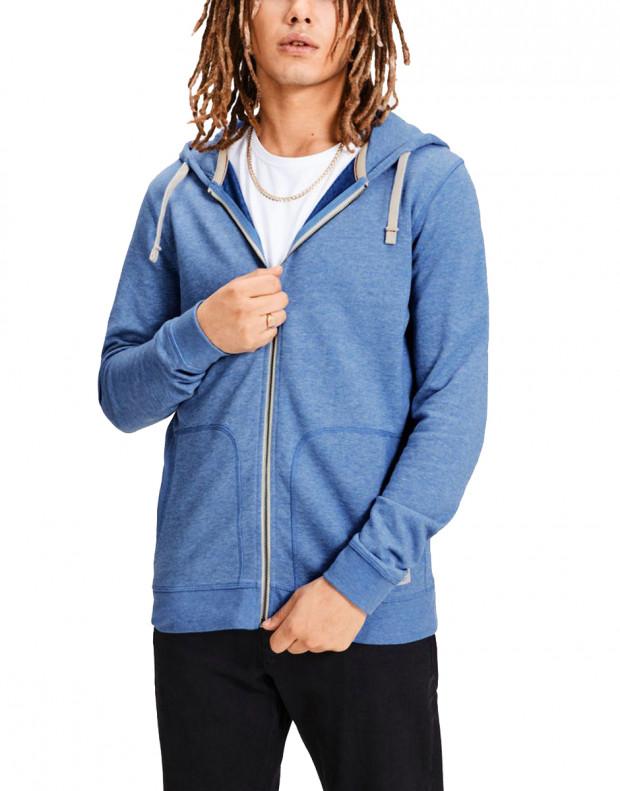 JACK&JONES Recycled Basic Zip Up Sweatshirt Blue