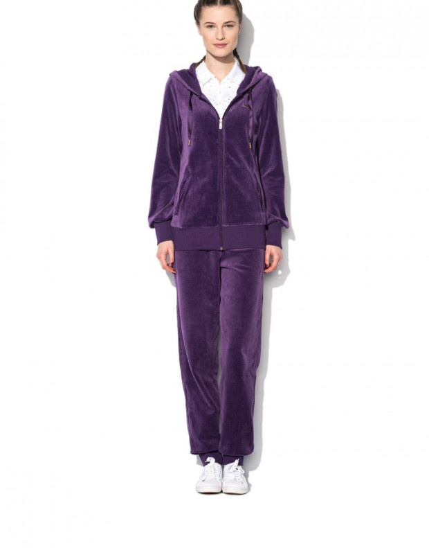 PUMA Velour Tracksuit Purple