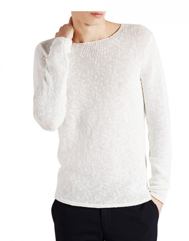 JACK&JONES Classic Knitted Pullover White