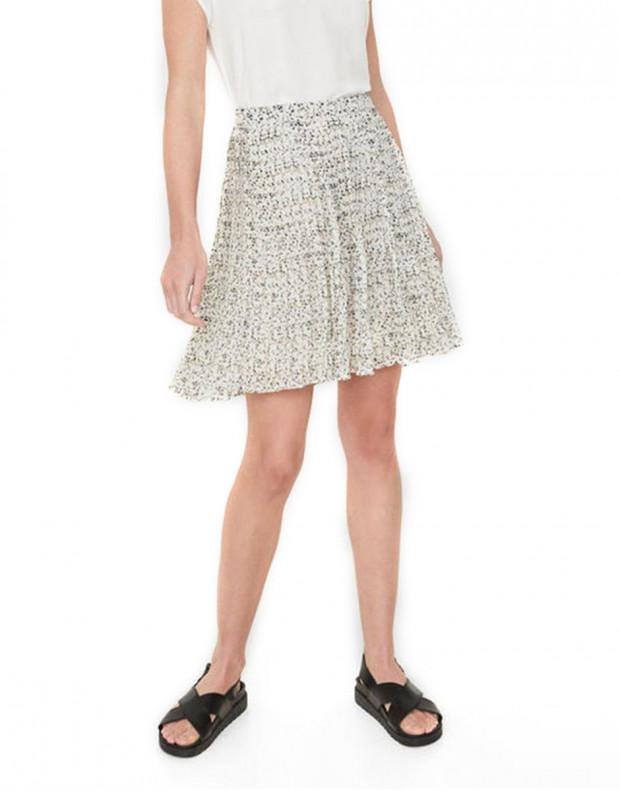 VERO MODA Retro Floral Skirt White