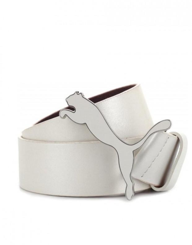 PUMA Mens Golf Leather Cat Belt White