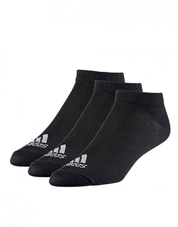 ADIDAS 3-pack No Show Socks Black