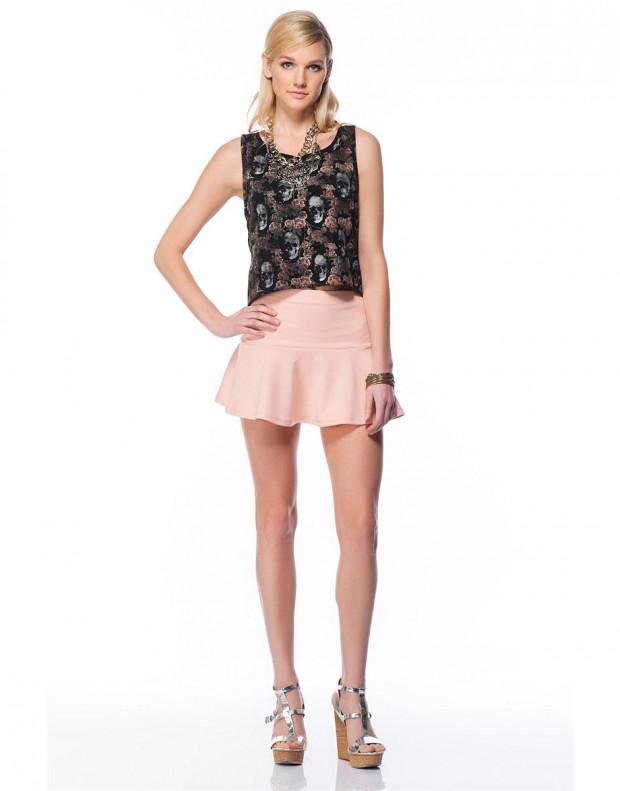 BERSHKA Full Skirt Pink