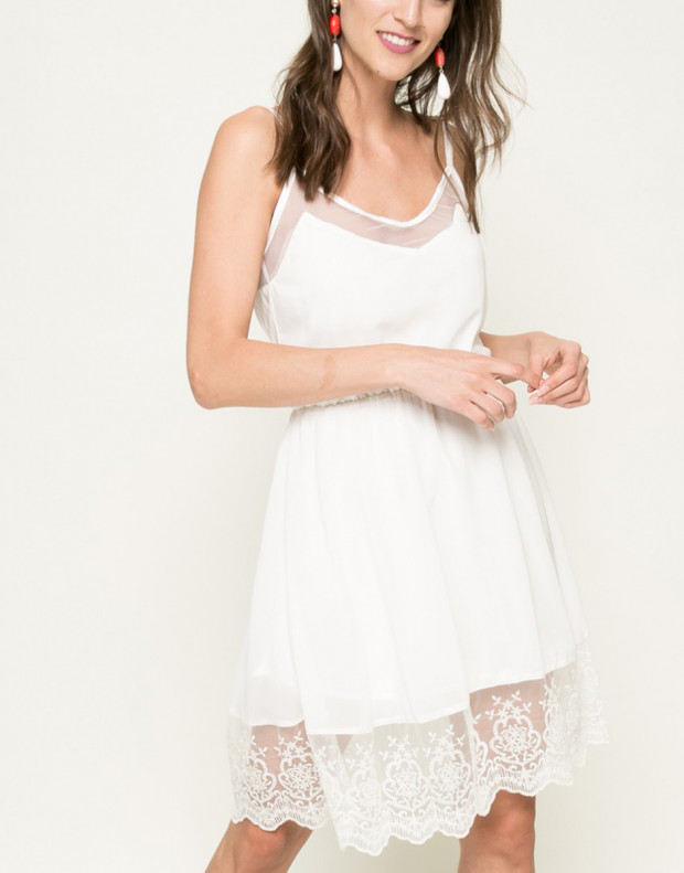 FRESH MADE Sleeveless Dress White