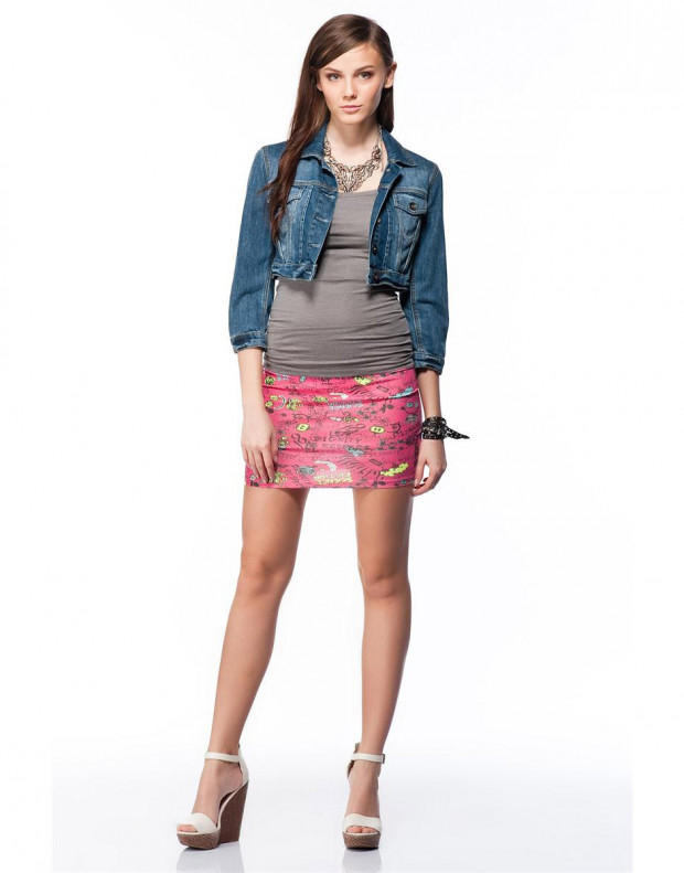 BERSHKA Printed Skirt