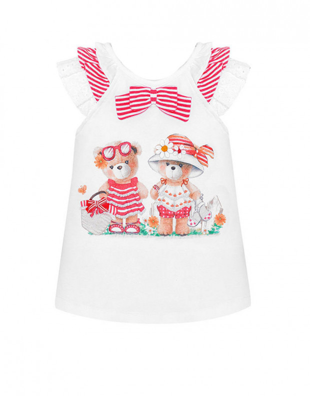 MAYORAL Two Bears Dress Red