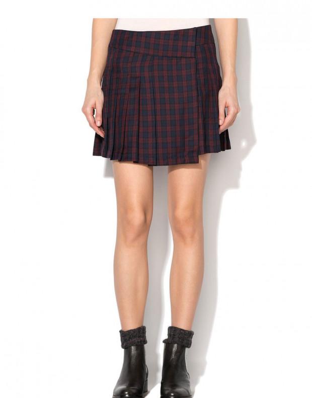 VILA Check Skirt Red