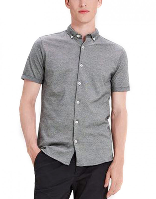 JACK&JONES Casual Cotton Shirt Light Dark Grey