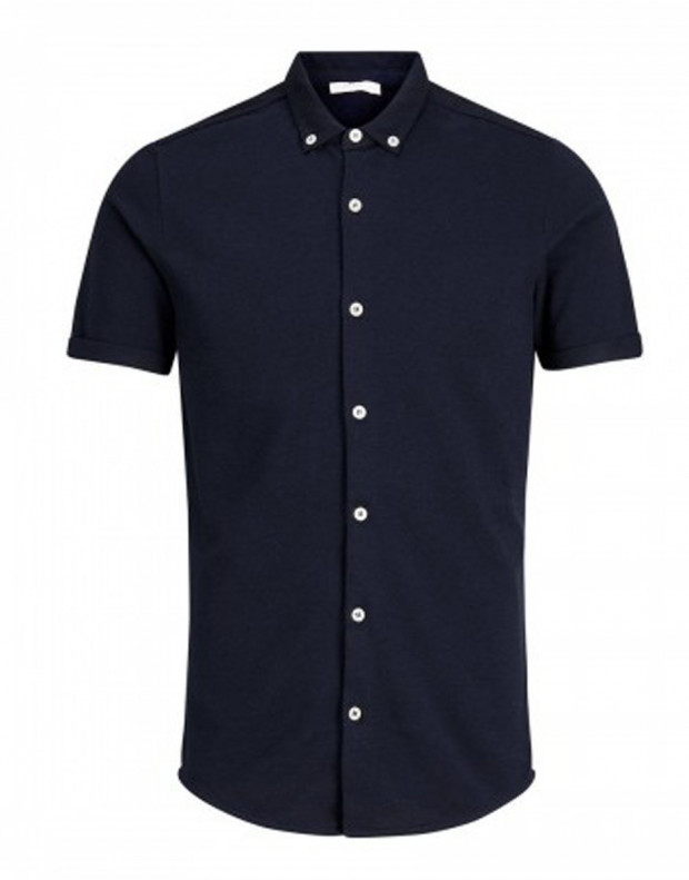 JACK&JONES Casual Cotton Shirt Light Navy