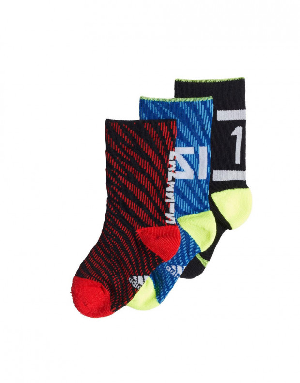 ADIDAS 3 Pack Messi Socks BRB