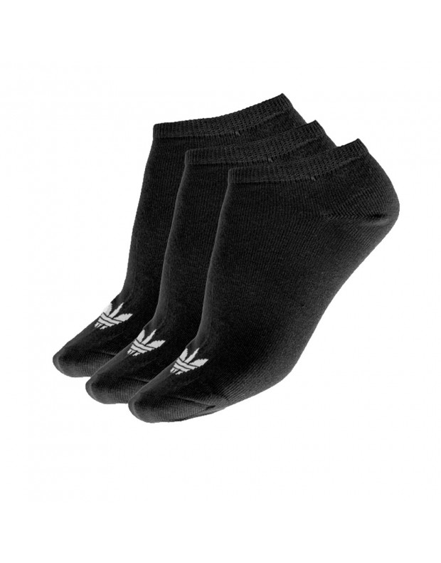 ADIDAS 3 Pairs Trefoil Liner Socks Black