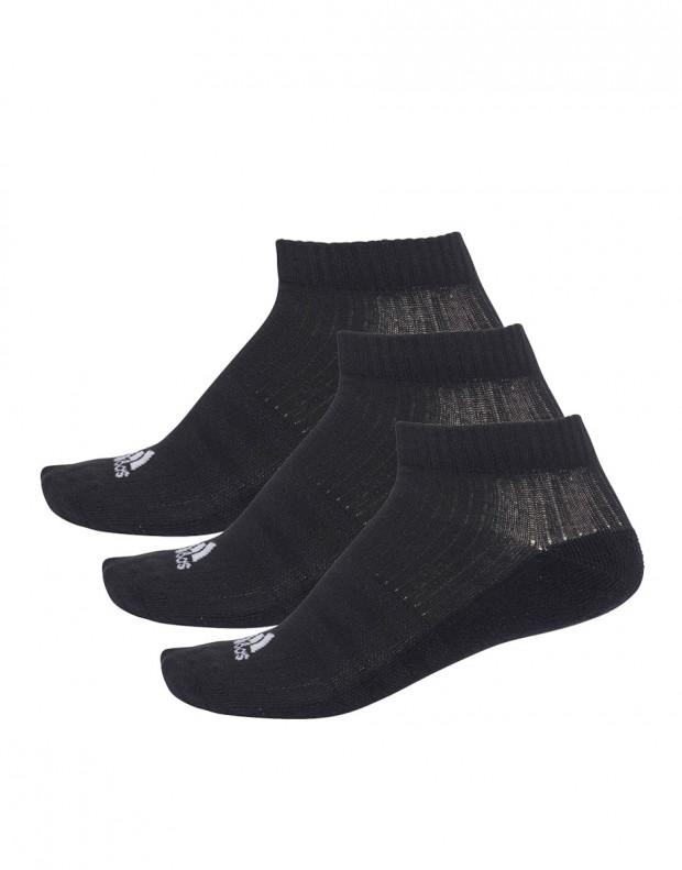 ADIDAS 3 Stripes No-Show Socks 3 Pairs Black