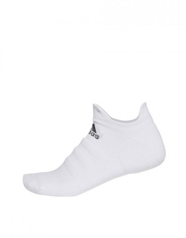 ADIDAS Alphaskin Cushioned No-Show Socks White