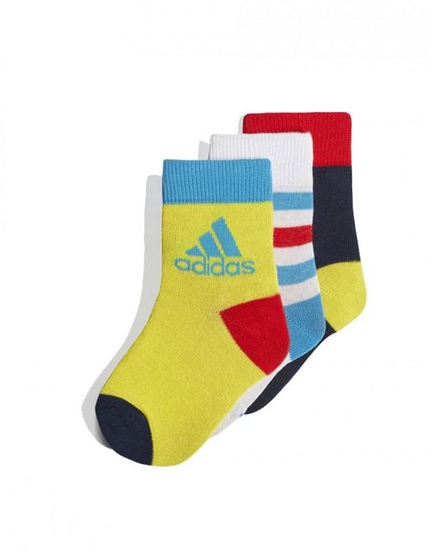 ADIDAS Ancle Socks 3 Pairs Yellow
