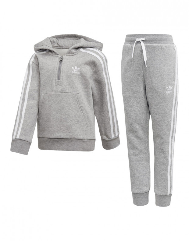 ADIDAS Fleece Hoodie Set Grey