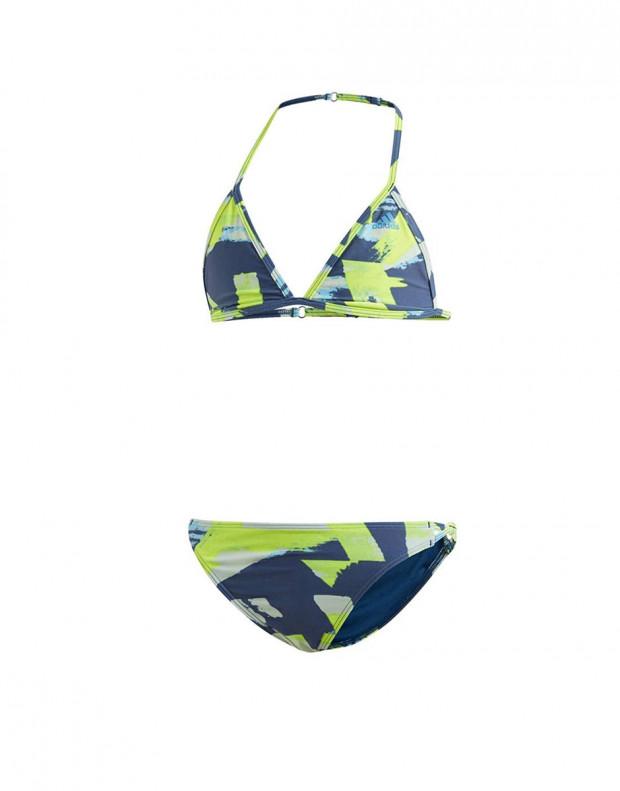ADIDAS Girls Allover Print Swim Suit Multi