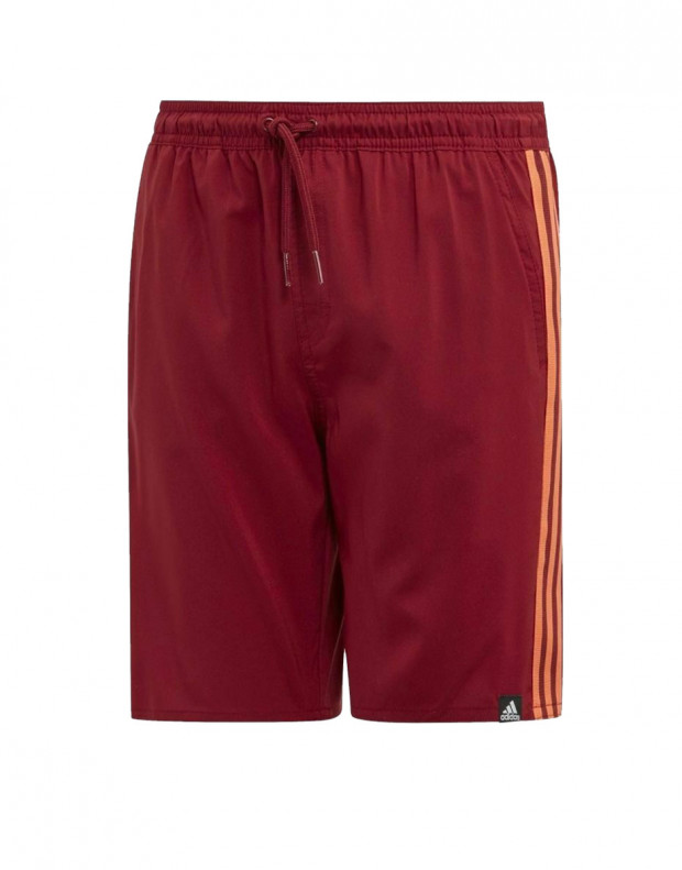 ADIDAS Kids 3-Stripes Swim Shorts Bordo
