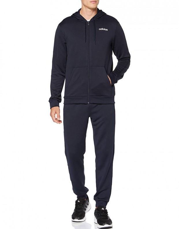 ADIDAS Linear French Terry Hoodie Tracksuit Navy