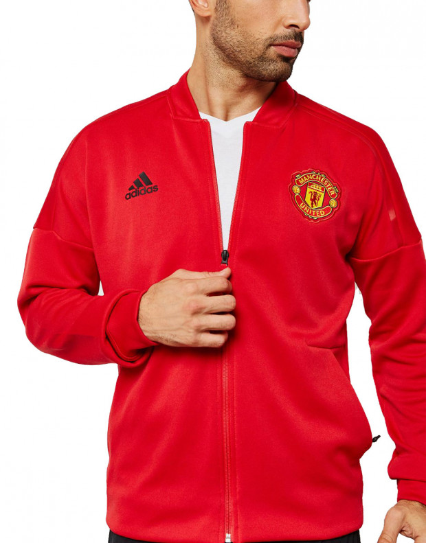 ADIDAS Mancherster United Z.N.E Hoodie Red
