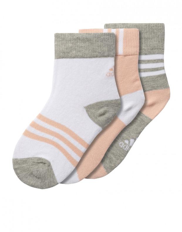 ADIDAS Thin Crew Socks 3 Pairs Girls