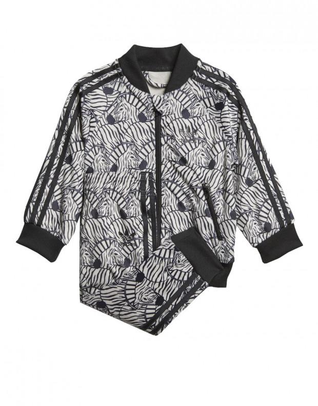 ADIDAS Zebra Track Suit Grey