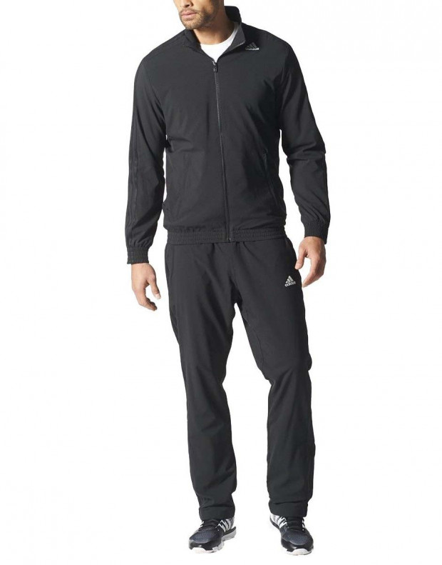 ADIDAS Woven Tracksuit Essential Climalite Black