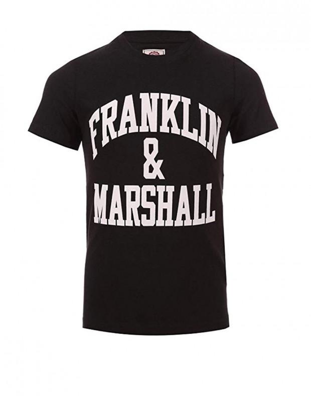 FRANKLIN AND MARSHALL CF Logo Tee Black