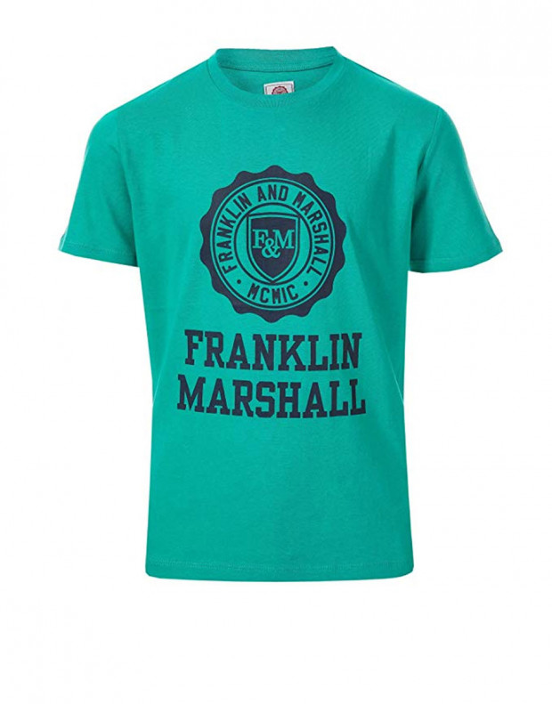 FRANKLIN AND MARSHALL Logo Tee Bright Gr
