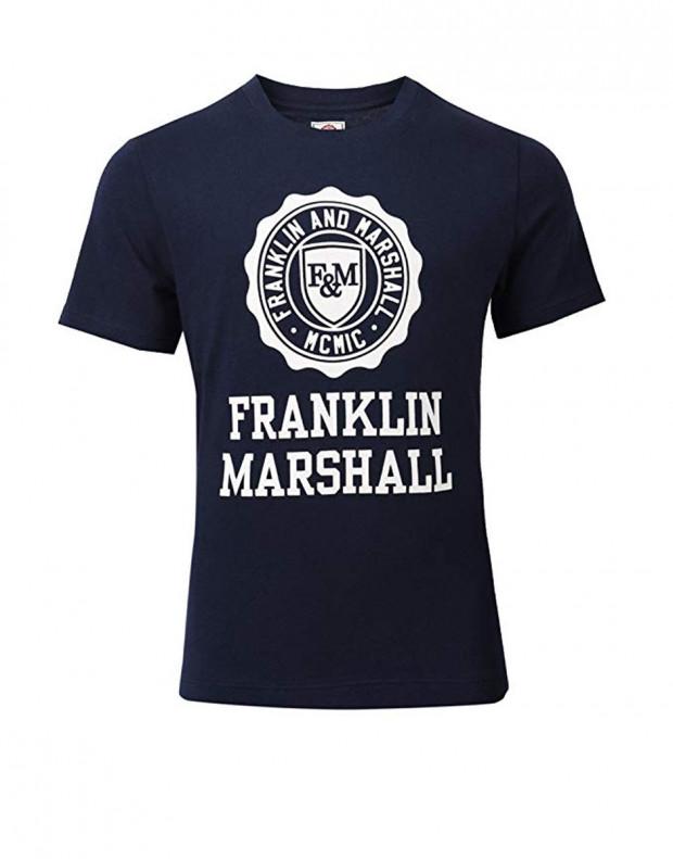 FRANKLIN AND MARSHALL Logo Tee Navy