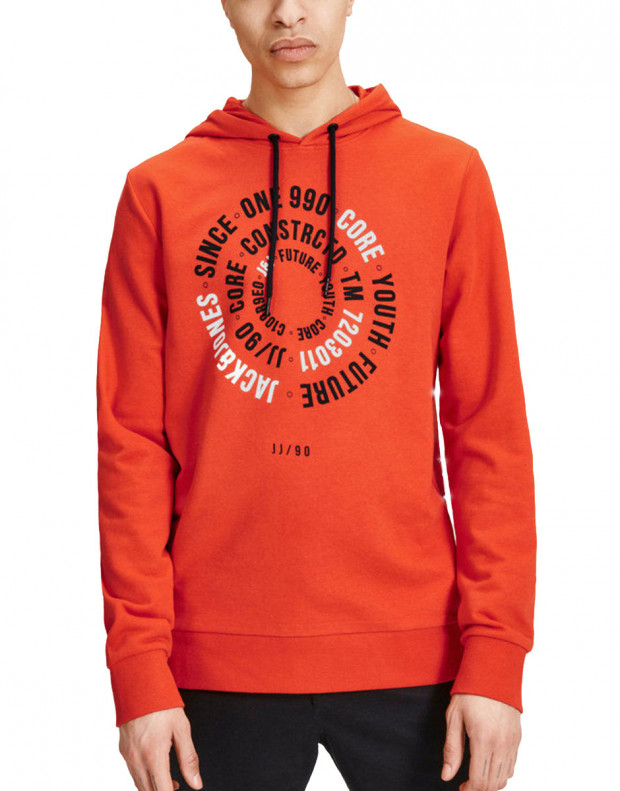 JACK&JONES Print Sweat Orange