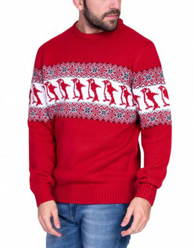 MZGZ Sochristmas Pullover Red
