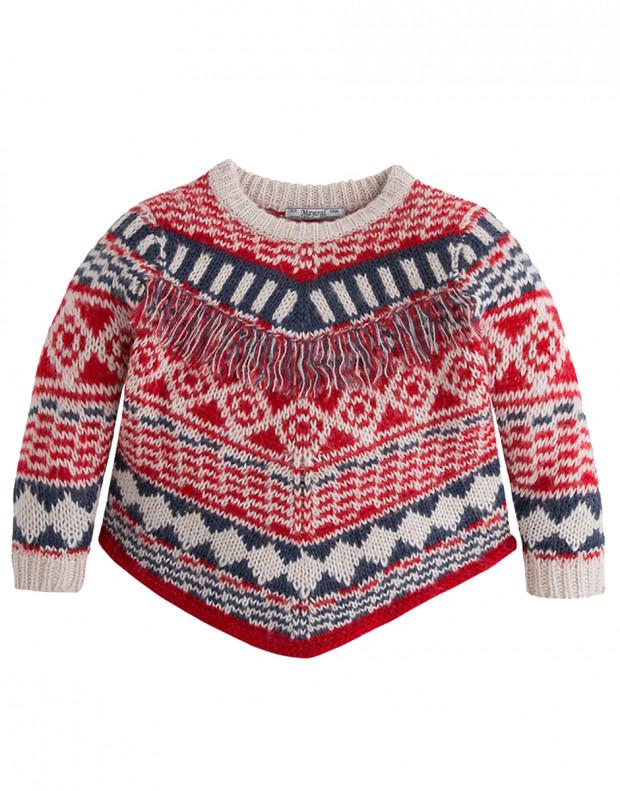 MAYORAL Fringe Knit Sweater