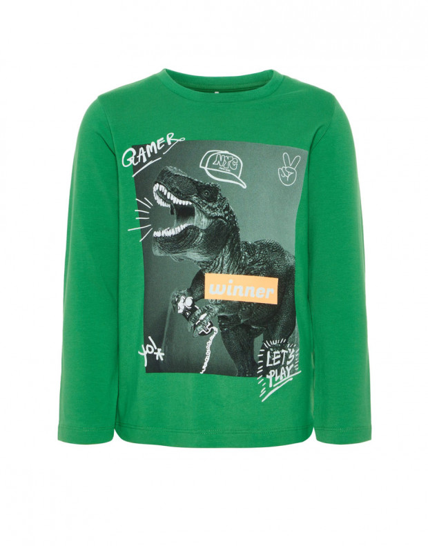 NAME IT Dino Printed Long Sleeved Blouse Green