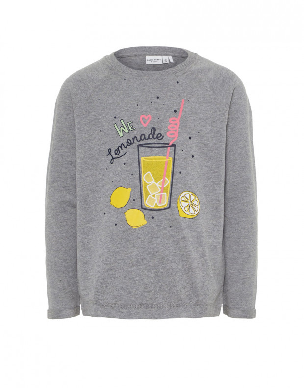NAME IT Lemonade Long Sleeved Blouse Grey