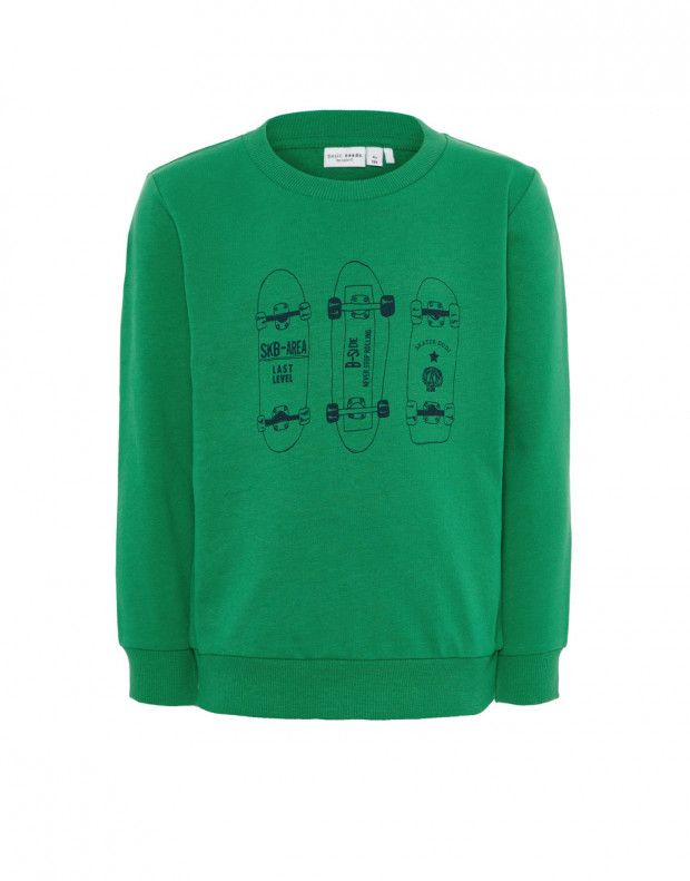 NAME IT Letter Printed Long Sleeved Blouse Green