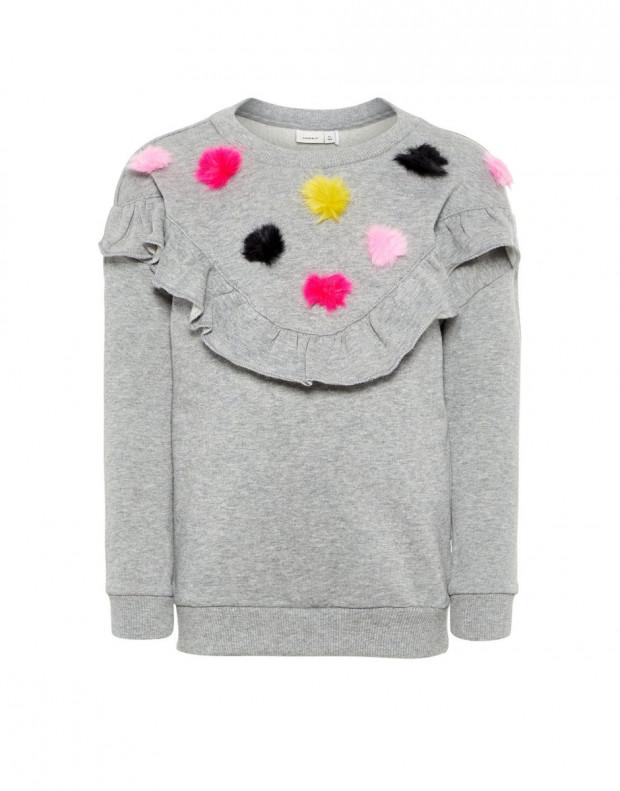 NAME IT Pom Pom Sweatshirt Grey