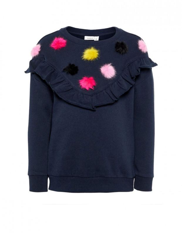 NAME IT Pom Pom Sweatshirt Sapphire