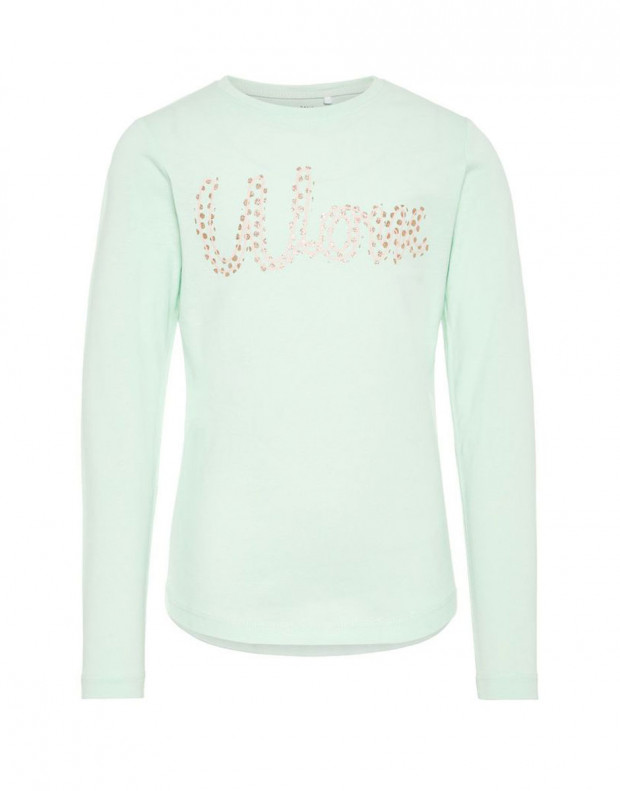 NAME IT Printed Long Sleeved Blouse Green