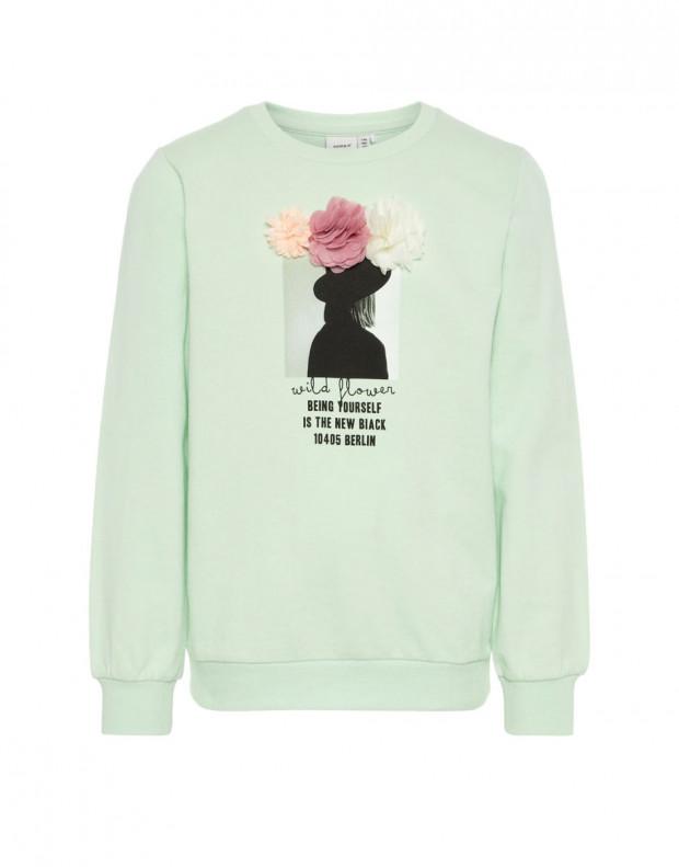NAME IT Printed Sweatshirt Blouse Green