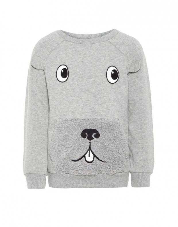 NAME IT Teddy Sweatshirt Grey