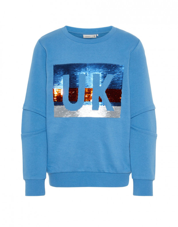 NAME IT UK Flip Sequin Sweatshirt Blue