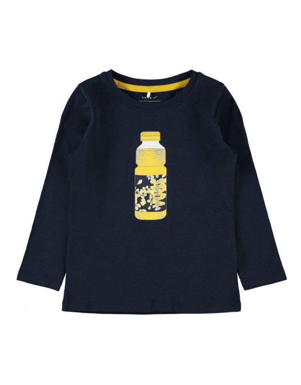 NAME IT Bottle Printed Long Sleeved Blouse Navy