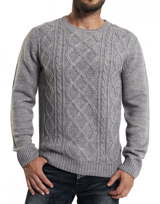 ONLY&SONS Cable Knitted Pullover Grey